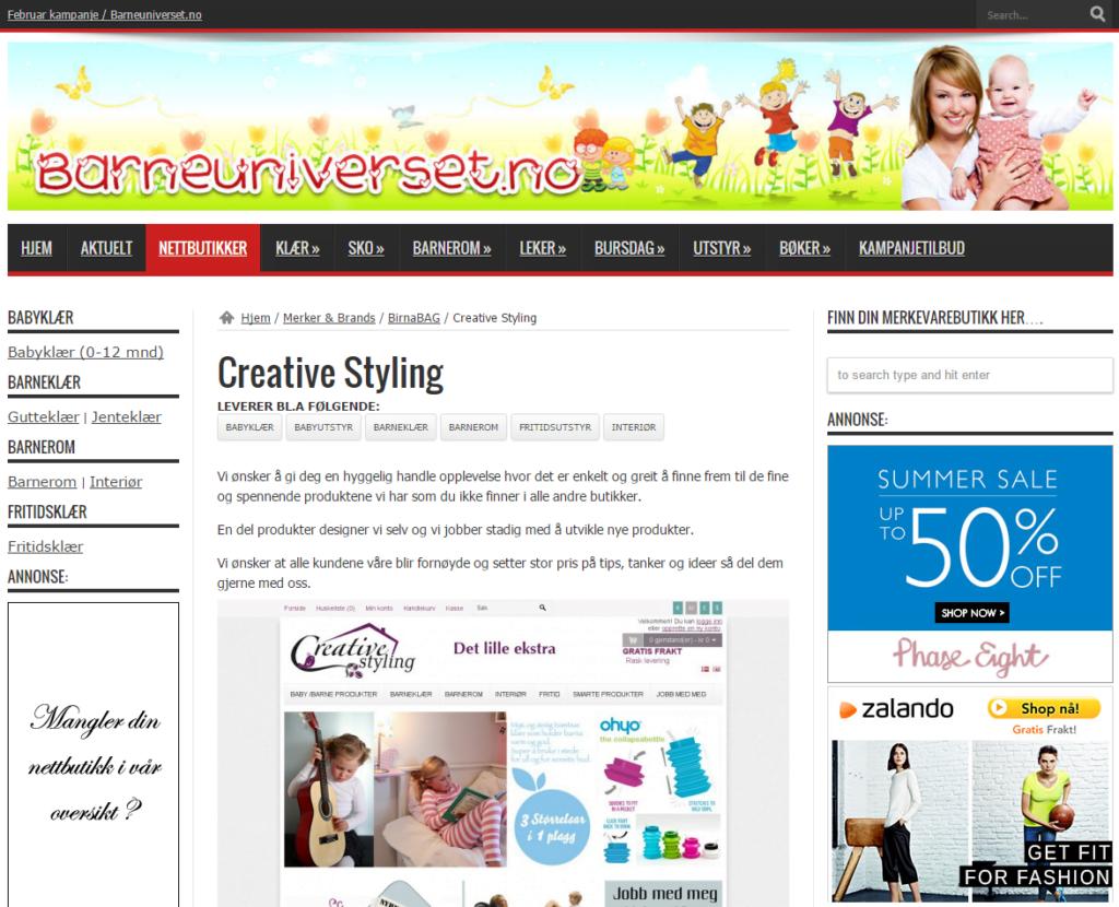 Creative Styling Barneuniverset.no